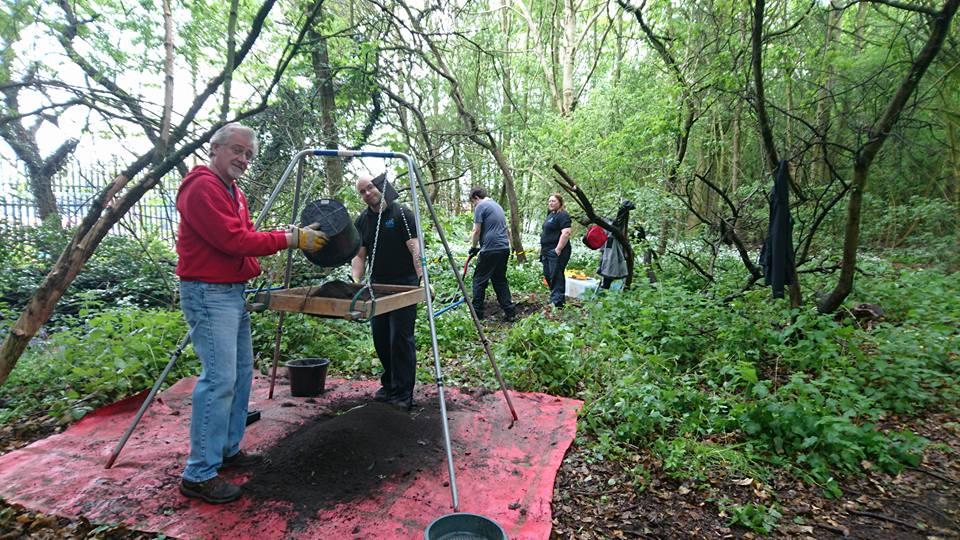 Volunteers working at Port Sunlight River Park
