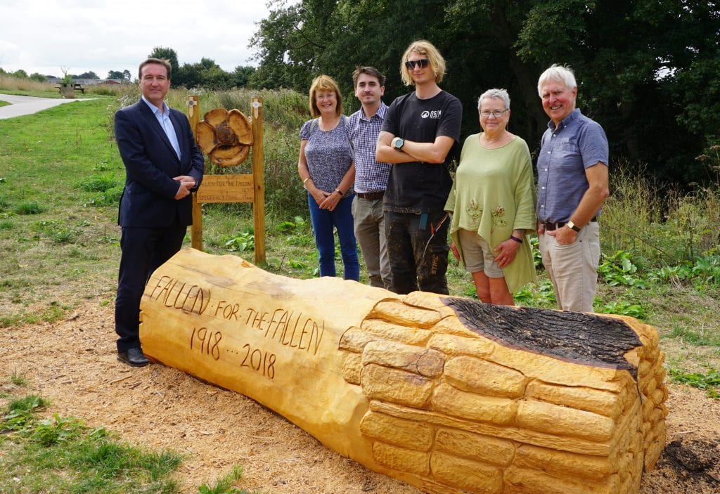 Chris Matheson visits Fallen for the Fallen memorial bench
