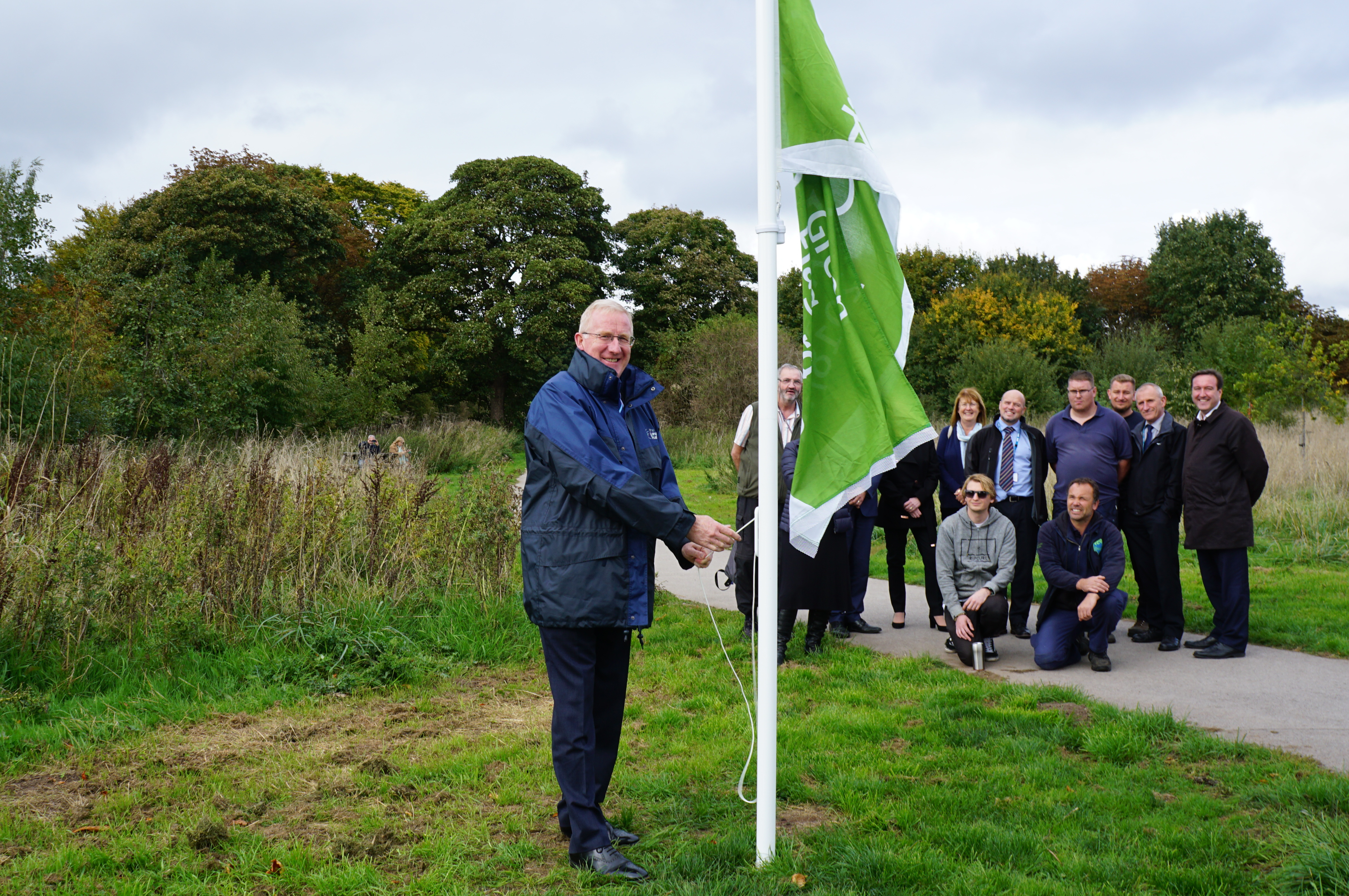 Green Flag raised at Countess of Chester Country Park