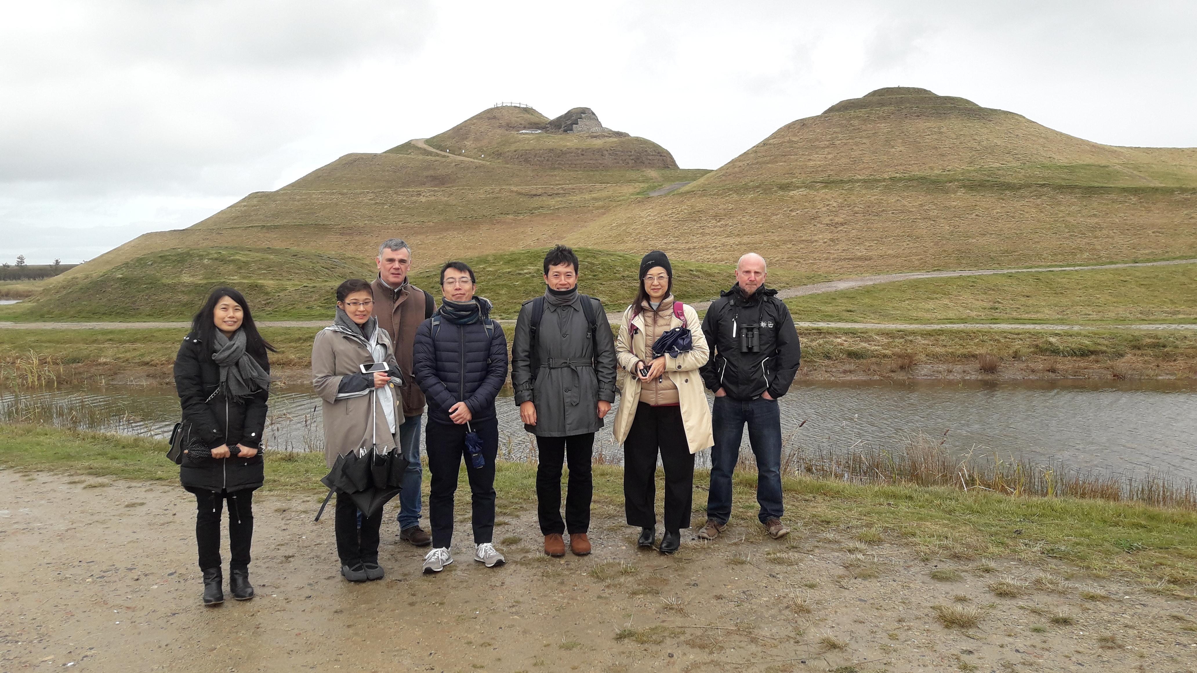 Japanese scientists visit Northumberlandia