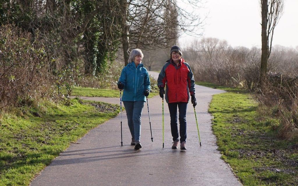 Morag Scargill on a health walk