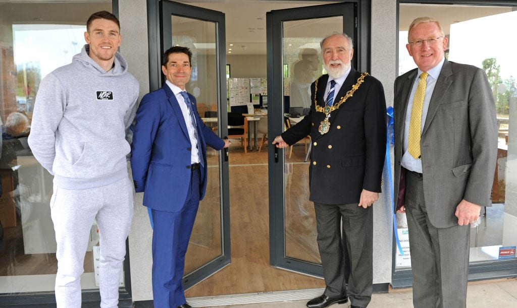 Land Trust Chief Executive at the opening of the new heritage centre at Port Sunlight River Park