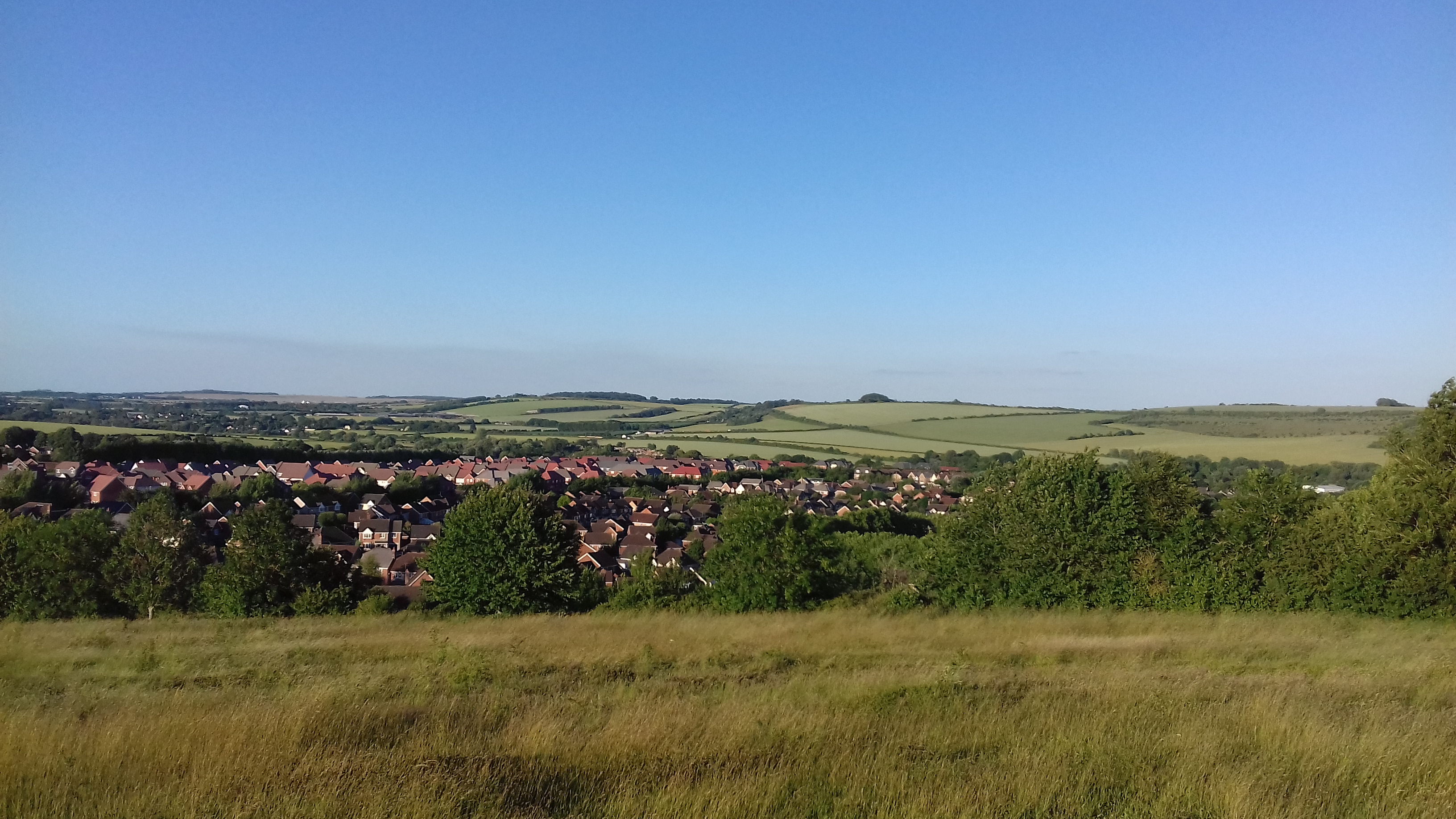 The view from Castle Hill Country Park