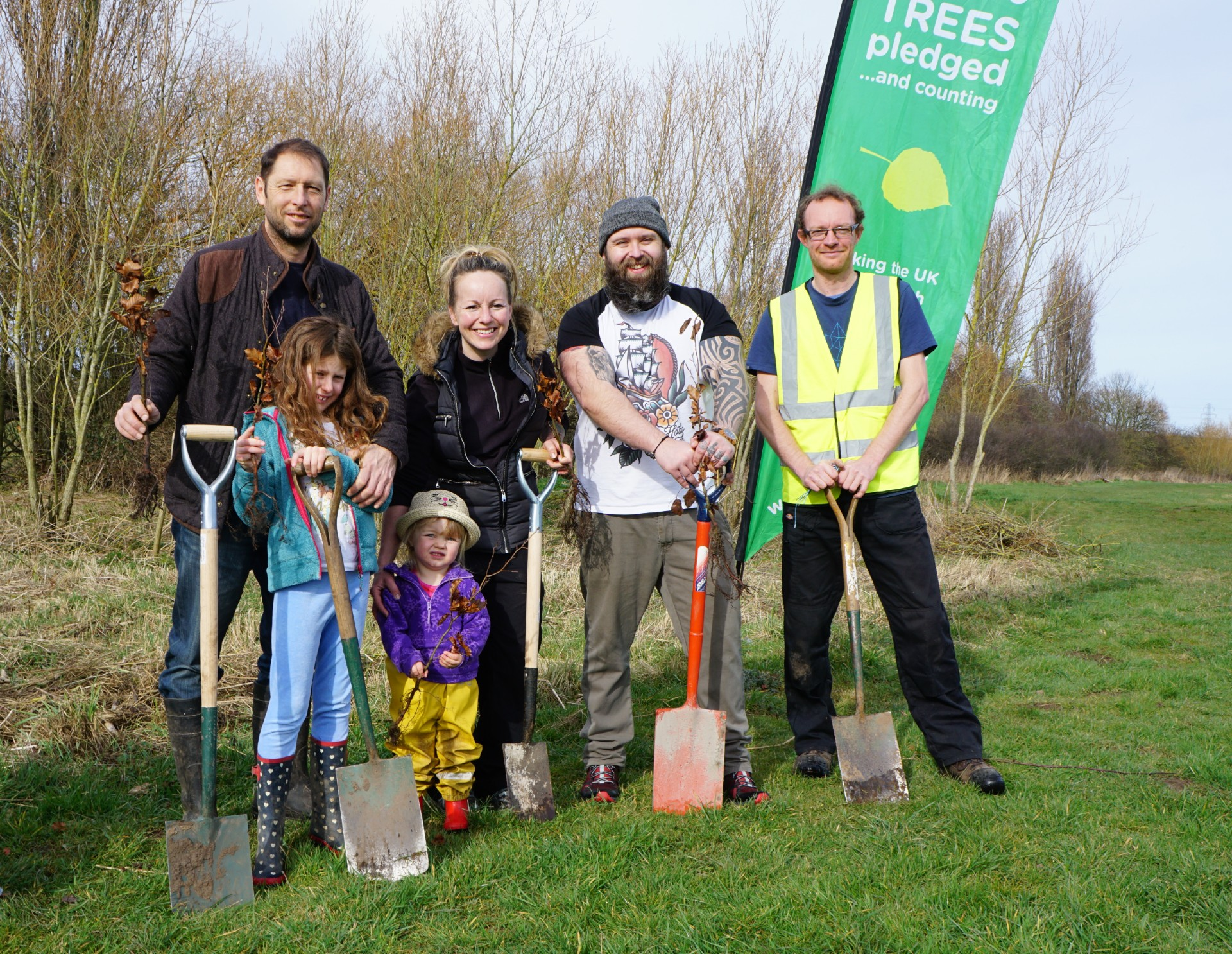 Tree planting at Countess of Chester Country Park