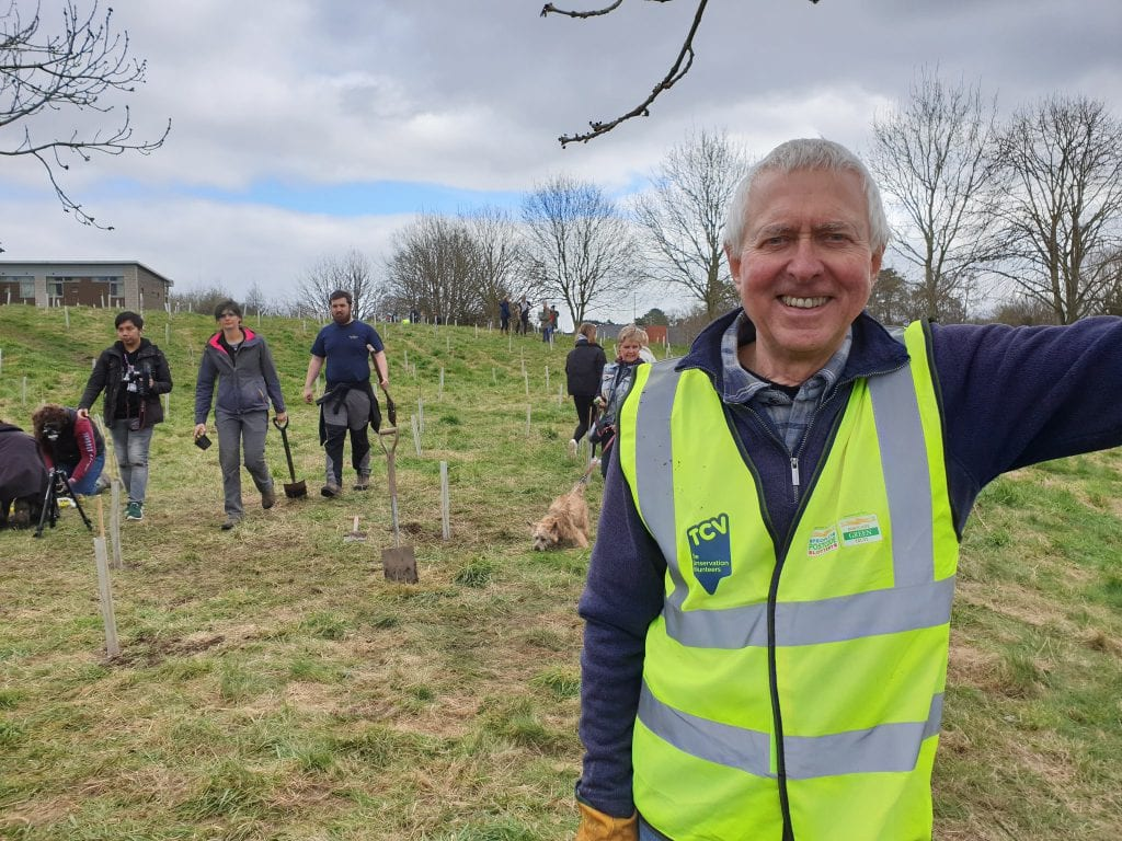 Andy Scargill, a volunteer at Countess of Chester Country Park has been nominated for an Echo Environment Award.