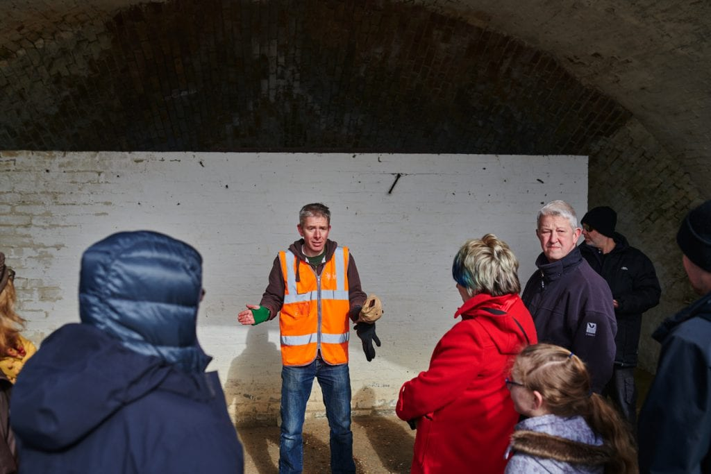 Project Manager Chris Valdus gives tour of Fort Burgoyne